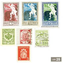 25 timbres Lettonie avant 1940