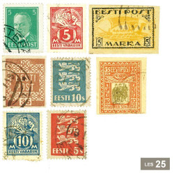 25 timbres Estonie avant 1941