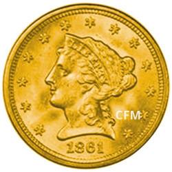 "2,5 Dollars Or USA 1840-1907 - ""Liberty head"""