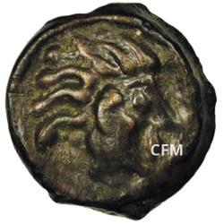 """1 Potin """"à la tête d'indien"""" de Sénons - Ier siècle av. J.-C."""