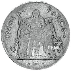 5 Francs Argent Union et Force
