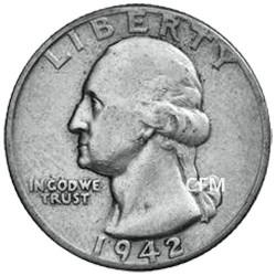 1/4 Dollar Argent 1932-1964 - George Washington
