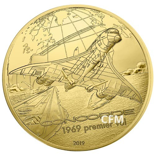 50 Euro Or France BE 2019 - Concorde