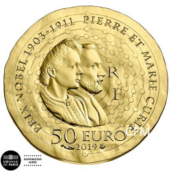 50 Euro Or France BE 2019 - Femmes de France : Marie Curie