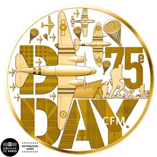50 Euro Or France BE 2019 - D-Day