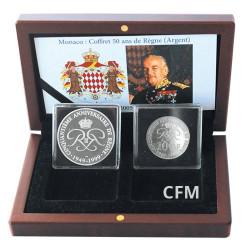 Coffret Argent Monaco 1999 Rainier III - 50 ans de Règne