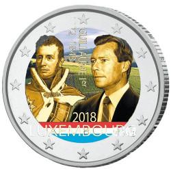 2 Euro Luxembourg 2018 colorisée - 175 ans de la disparition  de Guillaume Ier