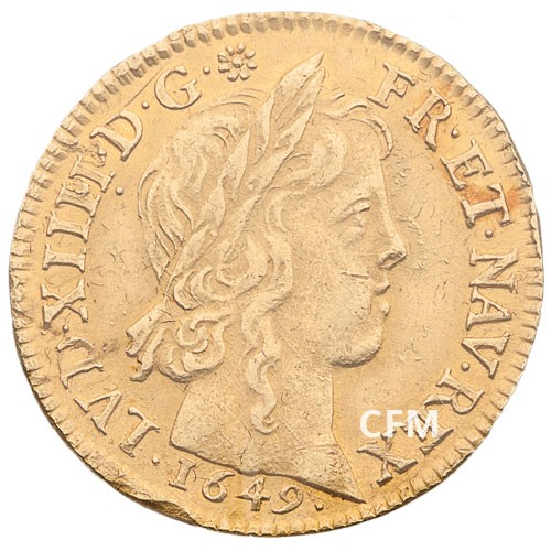 Ecu d'Or Louis XIV (1638 - 1715) à la mèche longue