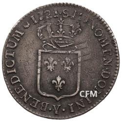 1/3 Ecu Argent Louis XV
