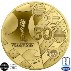 50 Euro Or France BE 2019 - Afrique