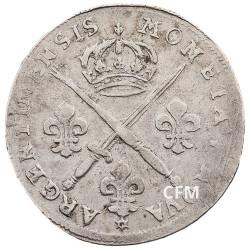 33 Sols de Strasbourg Argent Louis XIV aux insignes et aux palmes