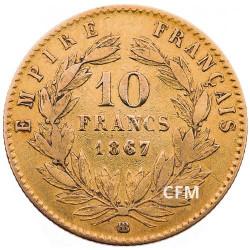 10 Francs Or - Napoléon III - Tête laurée - 2nd Empire
