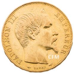 20 Francs Or – Napoléon III - Tête nue 1855A