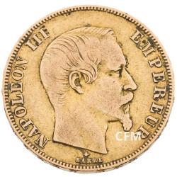 50 Francs Or Napoléon III Tête Nue 2nd Empire 1859 BB