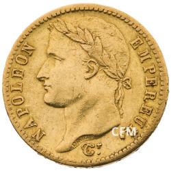 20 Francs Or Napoléon Empereur 1813W