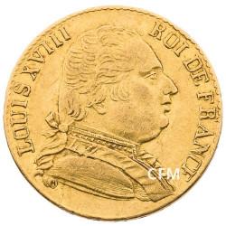20 Francs Or Louis XVIII Buste Habillé 1815R