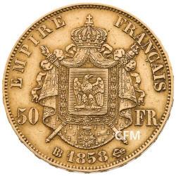 50 Francs Or Napoléon III - 1858 BB