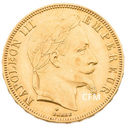 50 Francs Or Napoléon III 1867 BB