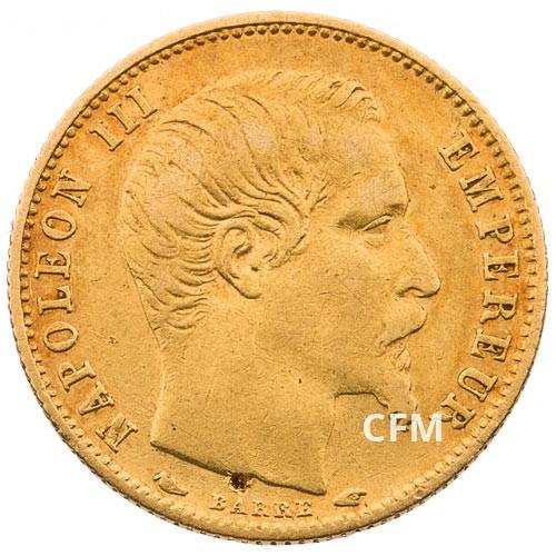 5 Francs Or Napoléon III petit module - 1854-1855