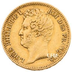20 Francs Or 1831 W - Louis Philippe Ier - Tête nue tranche en creux