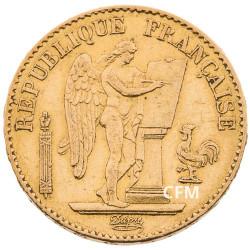 20 Francs Or Génie 1876 A - IIIe République