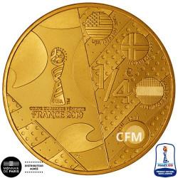 ¼ Euro France 2019 - Dessin Europe