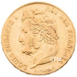 20 Francs Or 1839 A - Louis Philippe Ier - Tête laurée
