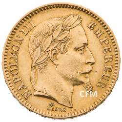 20 FRANCS OR - NAPOLEON III - 1863A