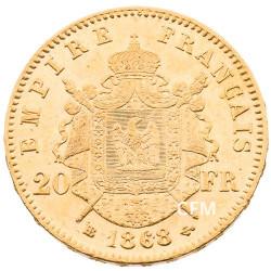 20 FRANCS OR - NAPOLEON III - 1868 BB