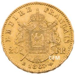 20 FRANCS OR - NAPOLEON III - 1867 BB