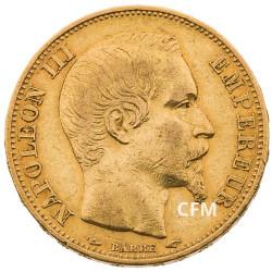 20 Francs Or – Napoléon III - Tête nue 1853A