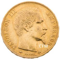 20 Francs Or – Napoléon III - Tête nue 1859A