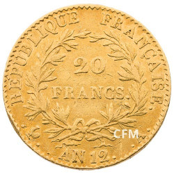 20 Francs Or An 12a - Bonaparte 1er Consul
