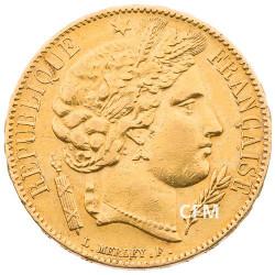 20 Francs Or Cérès 1851A