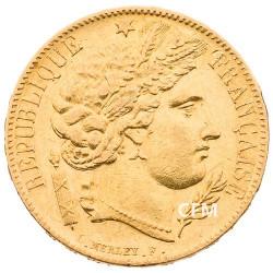 20 Francs Or Cérès 1849A