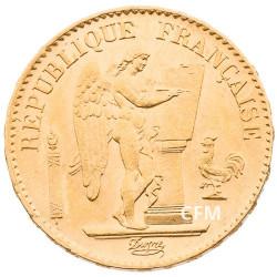 20 Francs Or Génie 1886 A - IIIe République