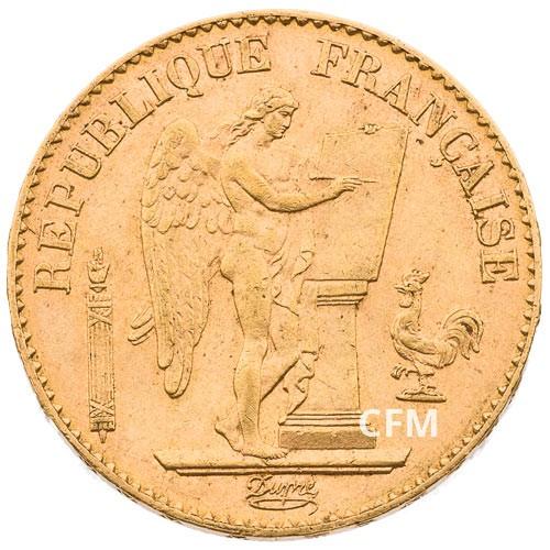 20 Francs Or Génie 1891 A  - IIIe République