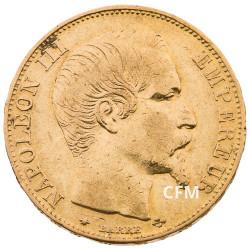 1856 BB - 20 Francs Or Napoléon III - Tête Nue