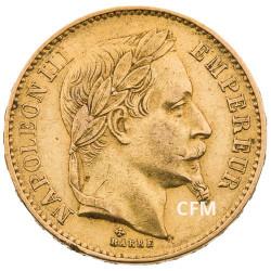 20 FRANCS OR - NAPOLEON III - 1866BB