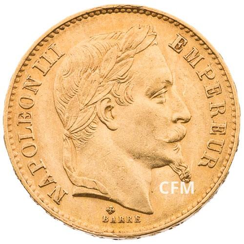20 Francs Or Napoléon III 1869 BB TL