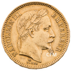 20 FRANCS OR - NAPOLEON III - 1865A