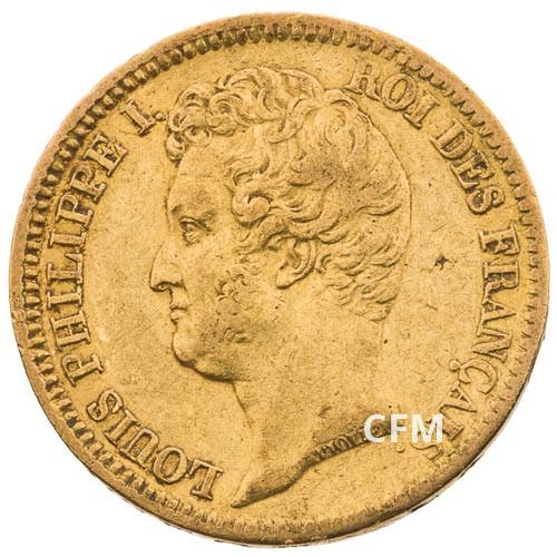 20 FRANCS OR 1831  A - LOUIS PHILIPPE Ier - TETE NUE TRANCHE EN CREUX