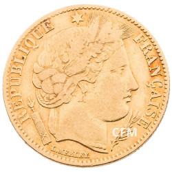 10 Francs Or Cérès 1851A