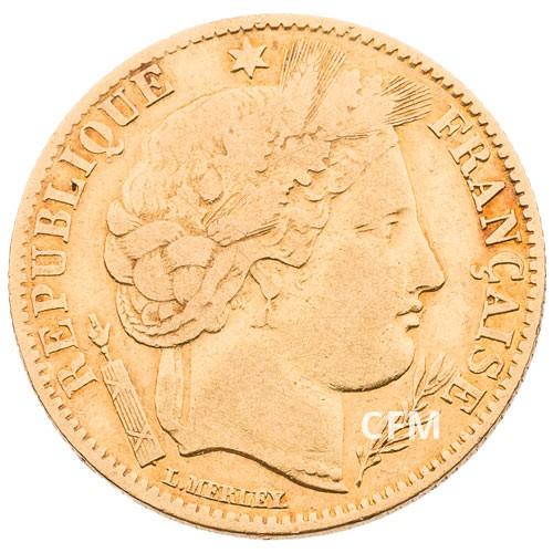 10 Francs Or Cérès 1851A
