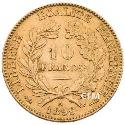 10 Francs Or Cérès 1899A