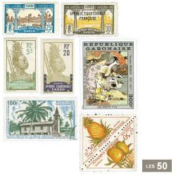 50 timbres Gabon