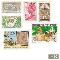 50 timbres Côte d'Ivoire