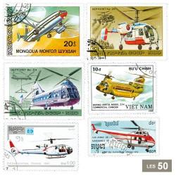 50 timbres hélicoptères
