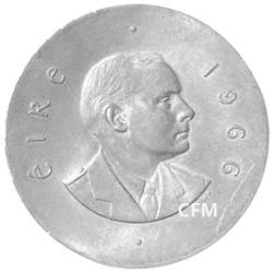 10 Shilling Argent Irlande 1966 - Patrick Pearse - 50 ans de la Révolution