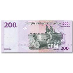 200 Francs République Démocratique du Congo 2000 - Tambours à fente
